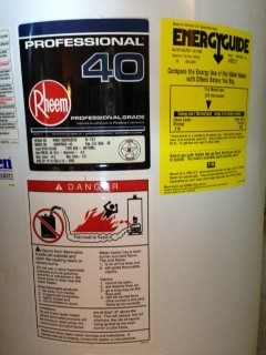 bradford white water heater serial number date code