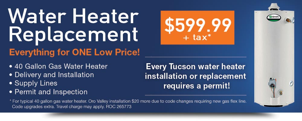 Water Heater Tucson 599 99 Tax Just Water Heaters